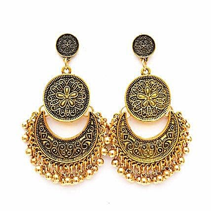 Ethnic Gold Ghungroo Earrings: Jewellery Gifts