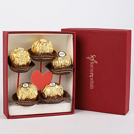 Ferrero Rocher in FNP Red Box: Chocolates for Valentines Day
