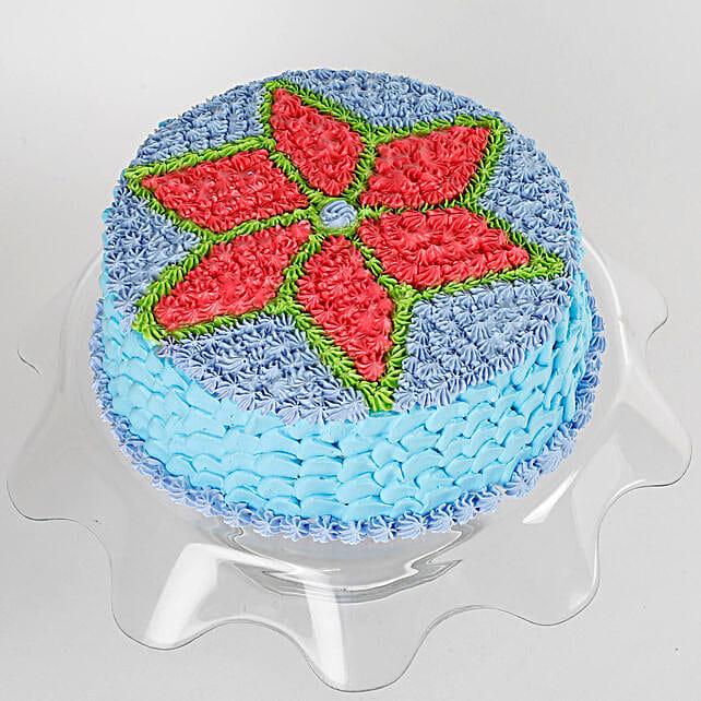 Floral Design Cream Cake: Designer Cakes
