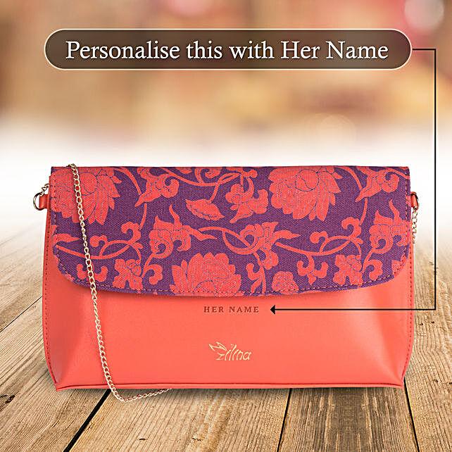 Floral Pink Sling Bag: