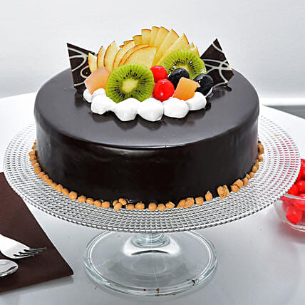 Fruit Chocolate Cake: Gifts to India