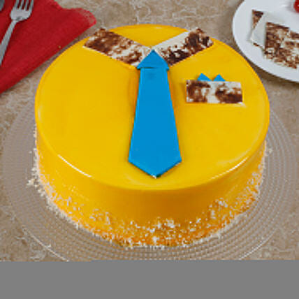 Funky And Delicious Mango Cake For Dad: Send Mango Cakes
