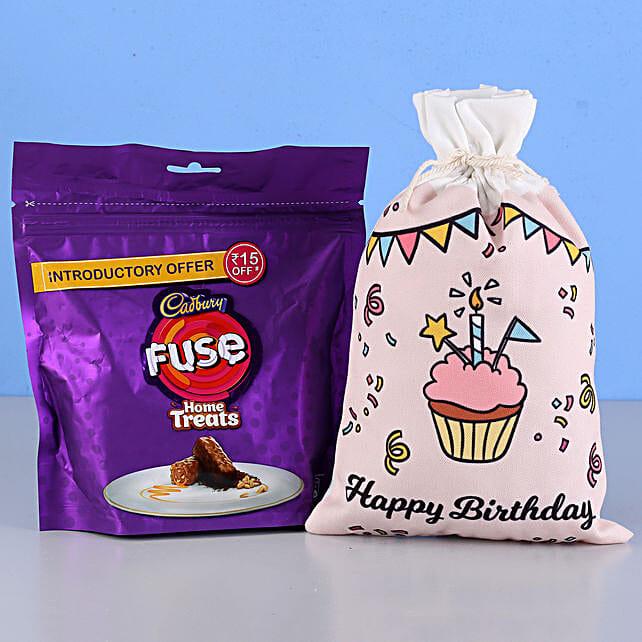 Fuse Home Treats & Birthday Gunny Bag: Cadbury Chocolates