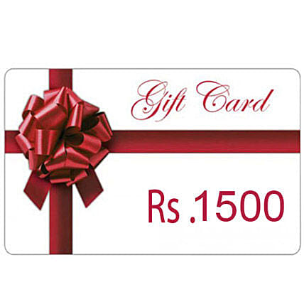 Gift Card 1500: Gift Cards