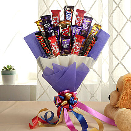 Glistening Choco Bouquet: Send Chocolate Bouquet