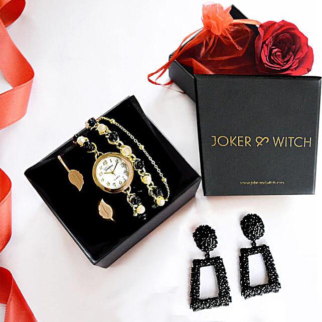 Gold & Black Love Stack: Accessories