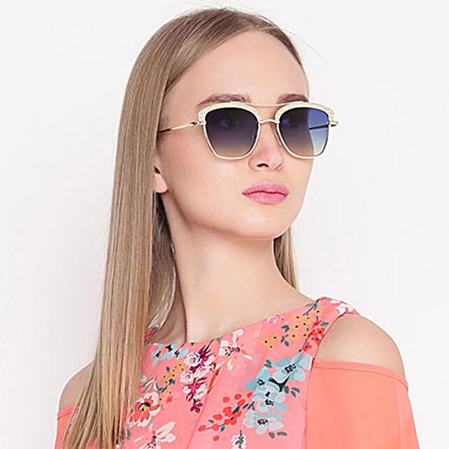 Gold N Blue Wayfarer Women Sunglasses: Sunglasses Gifts