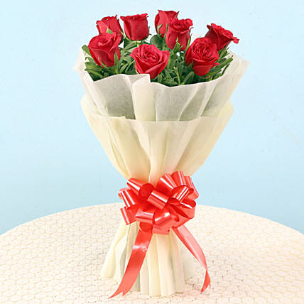 Graceful Red Roses: Flower Bouquets