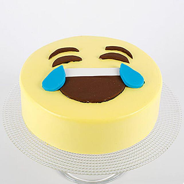 HaHa Emoji Semi Fondant Cake: Butter Scotch Cakes