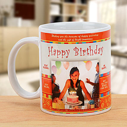 Happy Bday Personalized Mug: Gifts to India