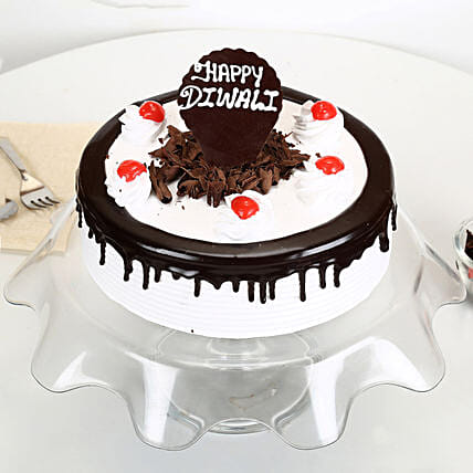 Happy Diwali Black Forest Cake: Black Forest Cakes