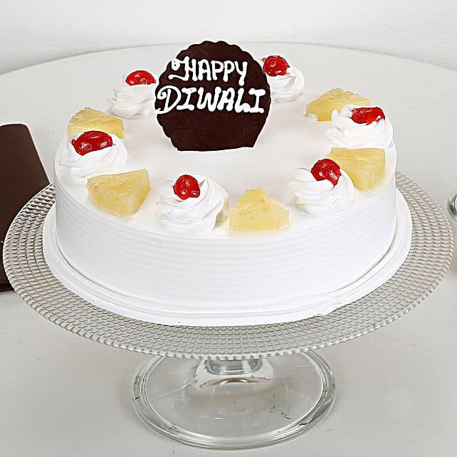 Happy Diwali Pineapple Cake: