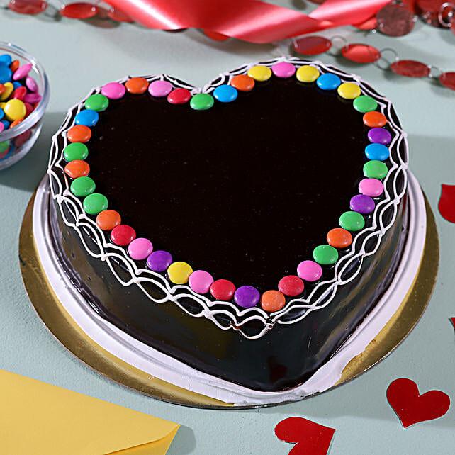 Heart Shaped Chocolate Cake: Send Chocolate Cakes