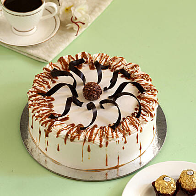 Heavenly Caramel Cream Cake: Buy Eggless Cakes
