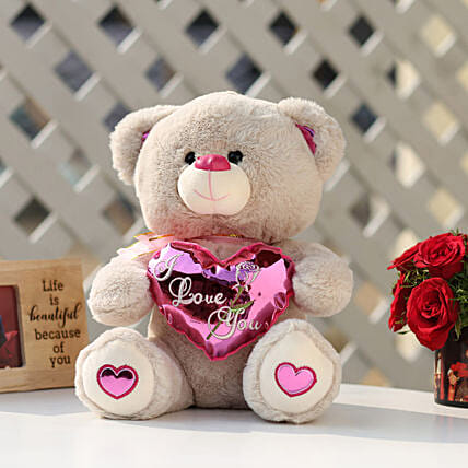 7938de994e7 I Love You Teddy Bear With Pink Heart  Soft Toys Gifts