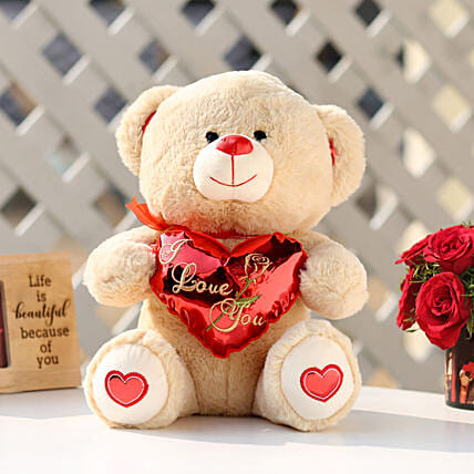 871b516e4bcb I Love You Teddy Bear With Red Heart: Valentines Day Soft toys