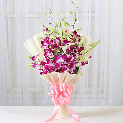 Impressive Orchids Bouquet: Flower bouquets for anniversary