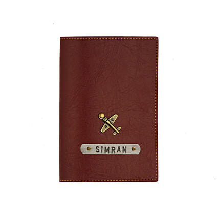 Leather Finish Passport Cover Maroon: Accessories