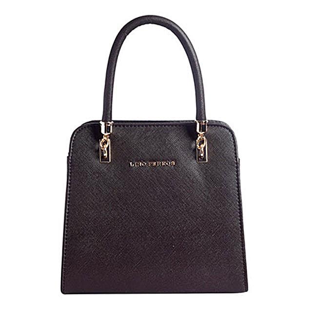 Lino Perros Leatherette Brown Handbag: Buy Handbags