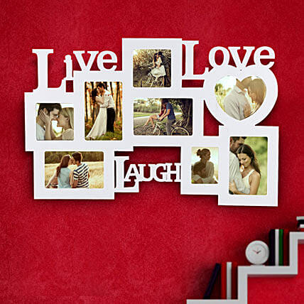Live Laugh Love Frame Valentine: Premium Personalised Gifts