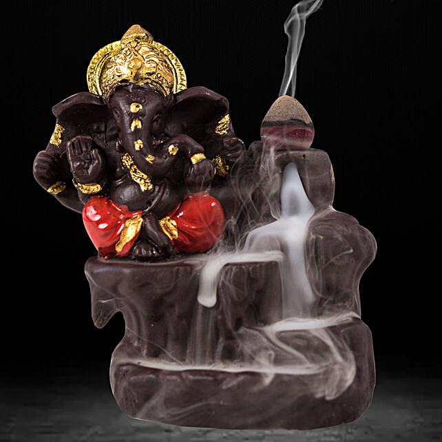 Lord Ganesha Incense Burner- Red: Funny Gifts