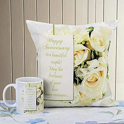 Love Without Measure: Cushions and Mugs Combo