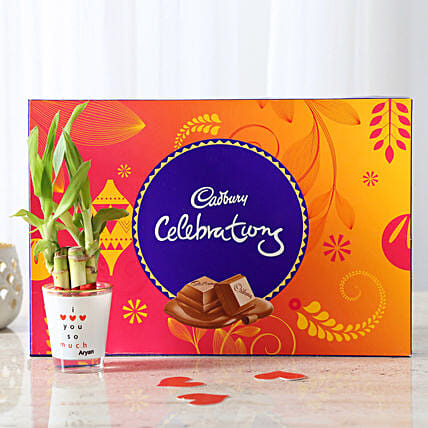 Lucky Bamboo With Cadbury Celebrations: Plant Combos