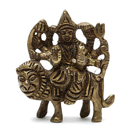 Maa Durga Brass Idol: Send Spiritual Gifts
