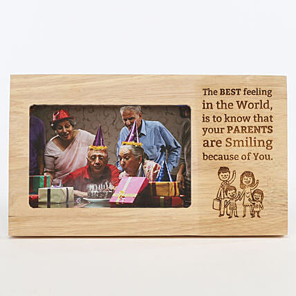 Make Your Parents Smile Photo Frame: Send Gifts for Parents Day