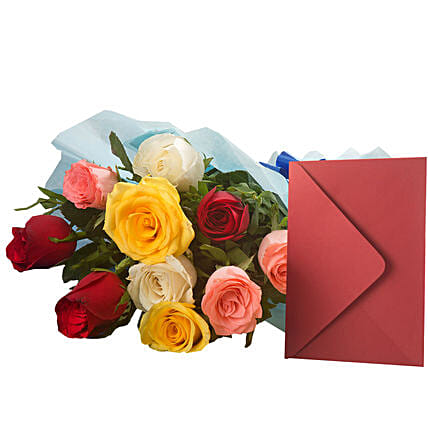 Mix Roses N Greeting Card: Buy Greeting Cards