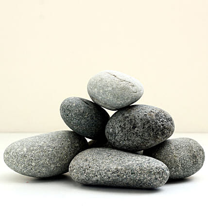 Natural Black Decorative Pebbles 50 To 75mm: