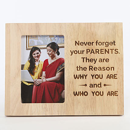 Never Forget Your Parents Photo Frame: Custom Photo Coffee Mugs