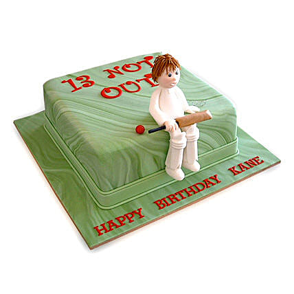 Not Out Cricket Cake: Cake Delivery