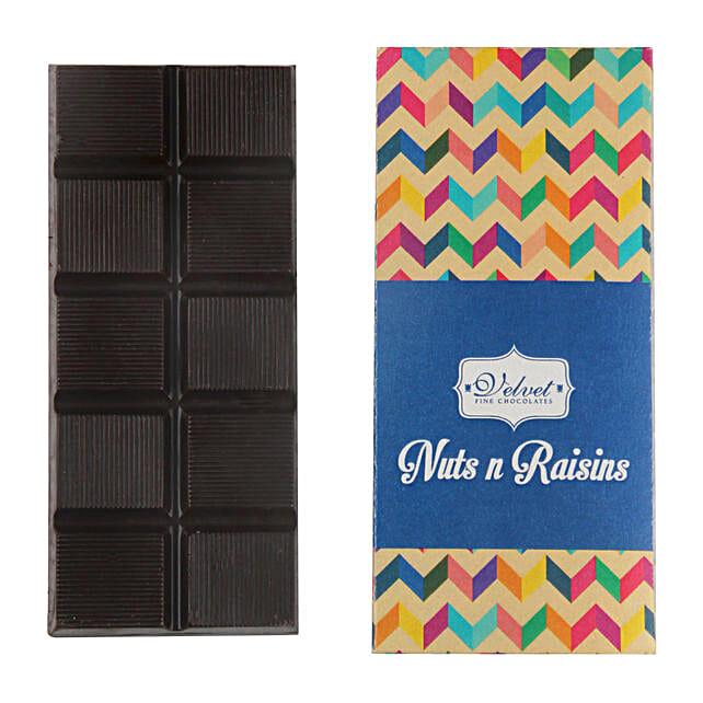 Nuts And Raisins Dark Chocolate Bar: Send Holi Chocolates