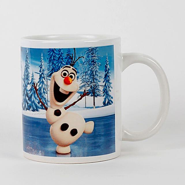 Olaf The Snowman Printed White Mug: Buy Coffee Mugs
