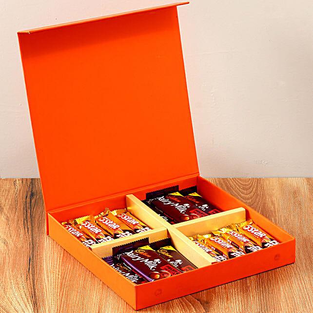 Orange Gift Box Of Chocolates: Chocolates Shopping India