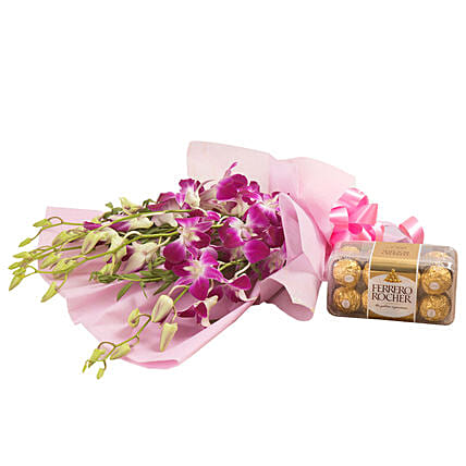 Orchids N Chocolates: Gifts for Hug Day