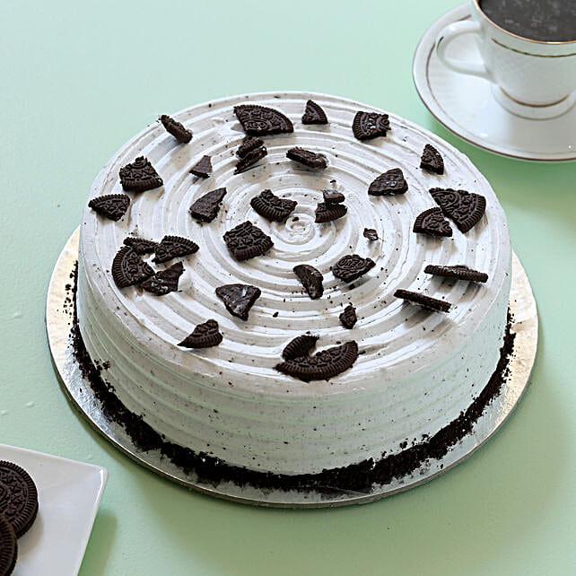 Oreo Cream Cake: Eggless Cakes