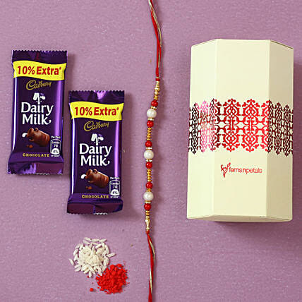 Pearl Rakhi & Dairy Milk Chocolates: