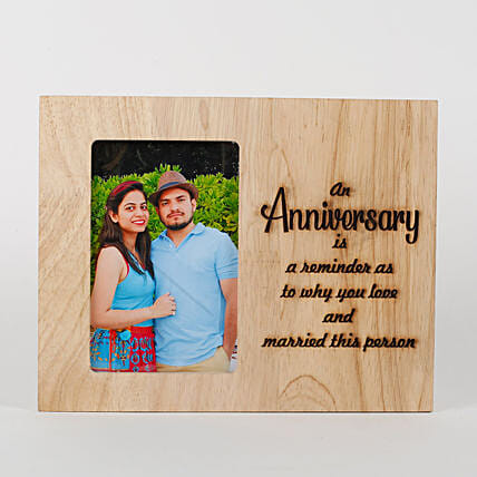 Personalised Anniversary Engraved Frame: Send Photo Frames
