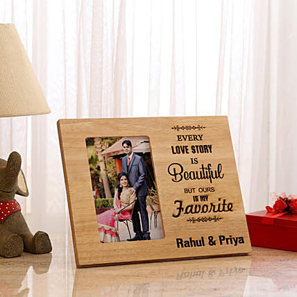 Personalised Beautiful Love Story Photo Frame:
