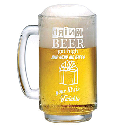 Personalised Beer Mug 1305: Personalised Glassware