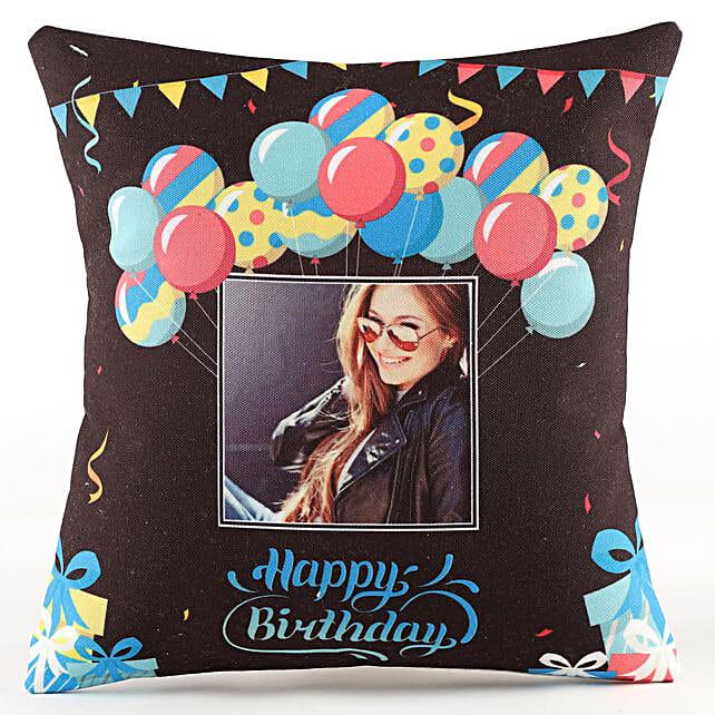 Personalised Birthday Balloon Cushion: Birthday All Gifts