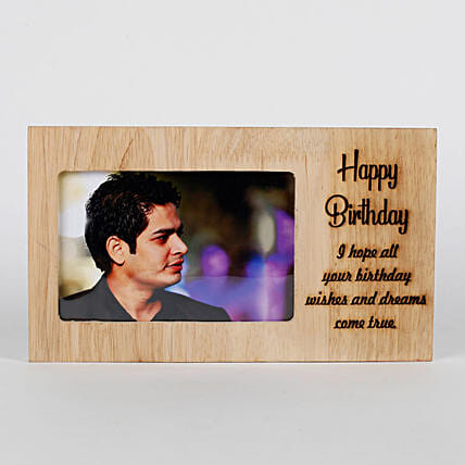 Personalised Birthday Engraved Frame: Send Photo Frames