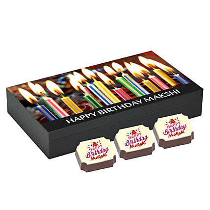 Personalised Birthday Gift Box- 6 Chocolates: Personalised Chocolates