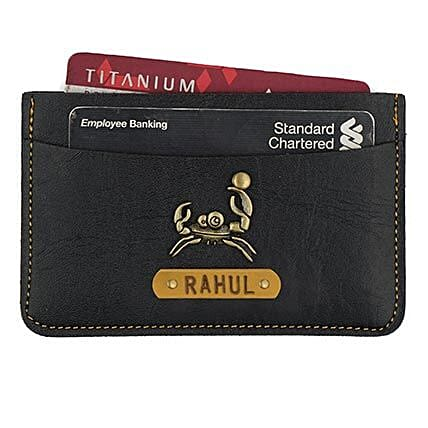 Personalised Black Card Holder: Accessories