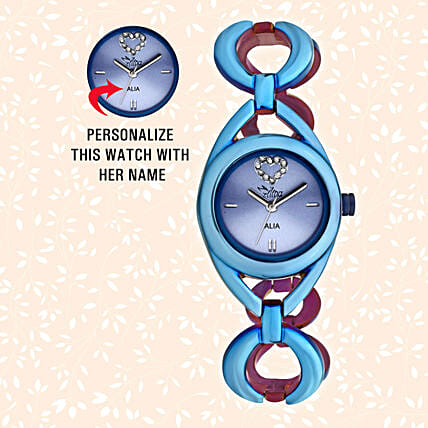 Personalised Blue Watch For Her: