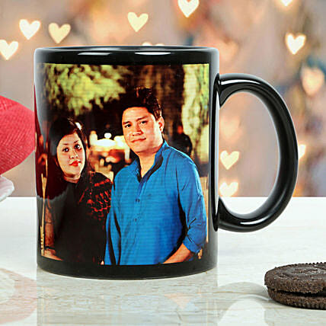 Personalised Couple Black Mug: Coffee Mugs
