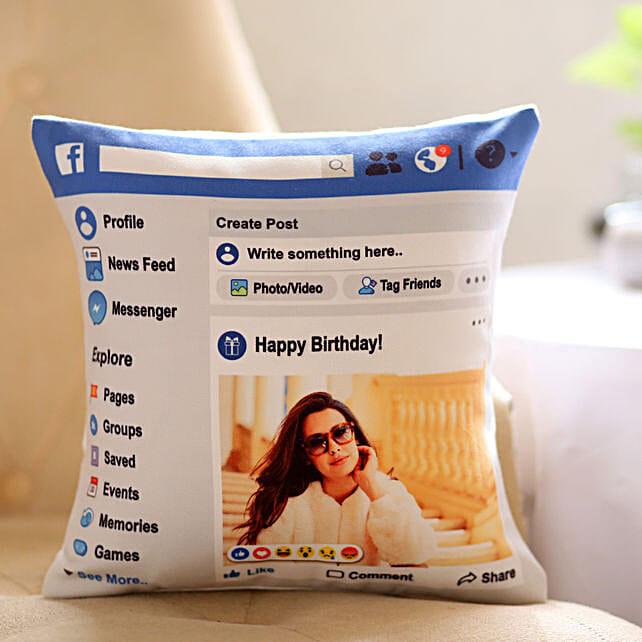 Personalised Facebook Birthday Cushion: Cushions