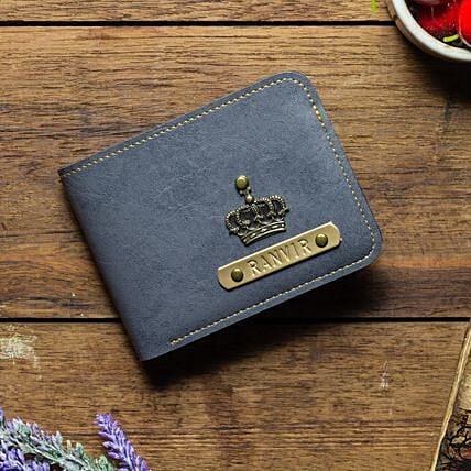 Personalised Grey Mens Wallet: Personalised Accessories